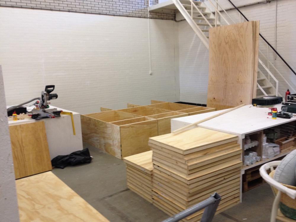 Grote houten kast